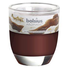 Ly nến thơm tinh dầu Bolsius 105g QT024347 gỗ đàn hương