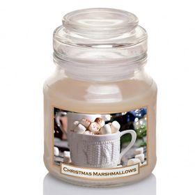 Hũ nến thơm tinh dầu Bartek 130g QT06652 kẹo dẻo vani