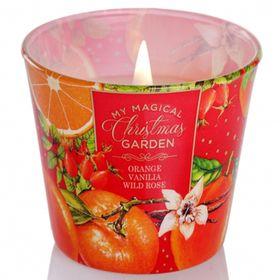 Ly nến thơm tinh dầu Bartek 115g QT028601 cam, lê, quế