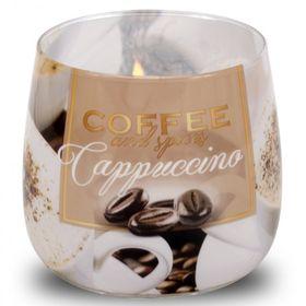 Ly nến thơm tinh dầu Bartek 100g QT04966 cà phê capuchino
