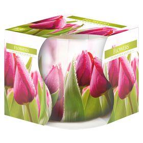 Ly nến thơm tinh dầu Bispol 100g QT024786 hương hoa tulips