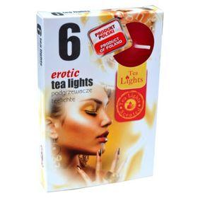 Hộp 6 nến thơm tinh dầu Tealight QT026103 gỗ đàn hương