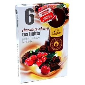 Hộp 6 nến thơm tinh dầu Tealight QT026085 socola, anh đào