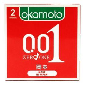 Combo Bao Cao su Okamoto 001 PU Hỗ Trợ Truyền Nhiệt Nhanh Hộp 2 Cái