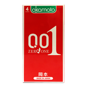 Bao Cao su Okamoto 001 PU Siêu mỏng Truyền Nhiệt Nhanh Hộp 4 Cái