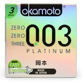Bao cao su Okamoto 003 Platinum Trong Suốt Mềm Mại Hộp 3 Cái