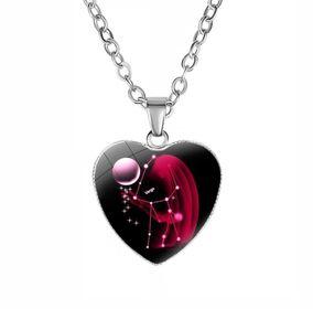 Dây chuyền 12 chòm sao mặt trái tim nữ tính