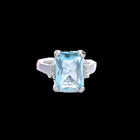 Nhẫn đá xanh mặt vuông phong cách cá tính