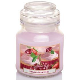 Hũ nến thơm tinh dầu Bartek 130g QT0400 bánh muffin trái cây