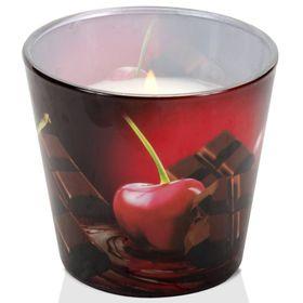 Ly nến thơm tinh dầu Bartek 115g QT3575 sôcôla anh đào, cam ngọt