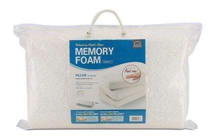 Gối Memory Foam 50D LocknLock Hình Cong , White , HLW111