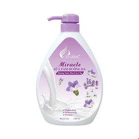 Sữa tắm Charme dưỡng trắng da Miracle 1000ml Hương Hoa Oải Hương