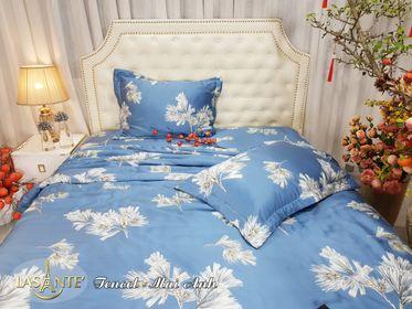 Bộ drap chun chần và chăn lụa Tencel Lasante Pháp