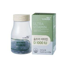 Ultra Vitamin D 1000IU Wellife Hàn Quốc hộp 60 viên