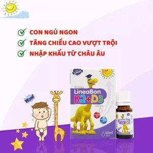 Review Vitamin LineaBon K2 D3 cho bé có tốt không?