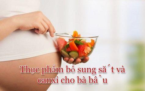 Thực phẩm chứa nhiều sắt và canxi cho bà bầu mẹ nên chọn
