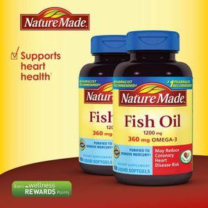 Dầu cá Nature Made Fish Oil Omega 3 1200mg hộp 120 viên
