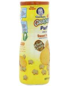 Bánh ăn dặm Gerber Graduates Puffs vị khoai lang 42g