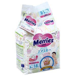 Tã dán Merries size L cho bé 9 – 14kg