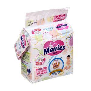 Tã dán Merries size M cho bé 6 – 11kg