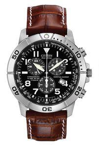 Đồng hồ Citizen Eco Drive Titanium cho nam dây da cá sấu nổi vây BL5250-02L