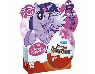 Trứng đồ chơi socola Kinder Pony hộp 4 quả