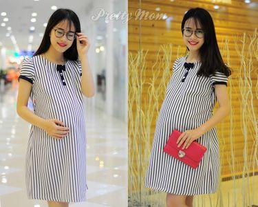 Đầm bầu Pretty Mom MK101 màu trắng