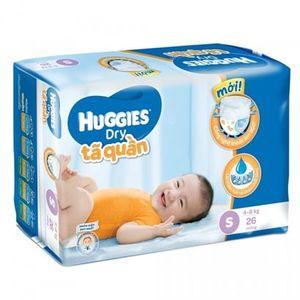 Tã quần huggies size S cho bé 4-8kg