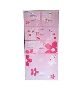 Tủ nhựa Duy Tân Mina 5 tầng 6 ngăn hồng