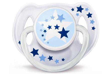 Ty ngậm Avent phát sáng dùng ban đêm cho bé 6-18 tháng tuổi