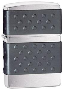 Bật lửa Zippo 200ZP Black Zip Guard Brushed Chrome