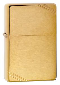 Bật lửa Zippo Vintage Brushed Brass 240 màu vàng xước vân ngang