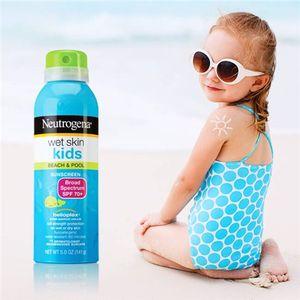 Kem chống nắng Neutrogena Wet Skin Kids SPF70 dạng xịt