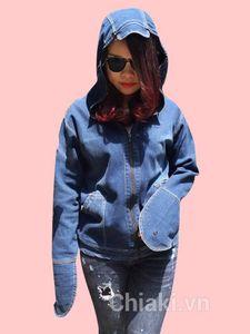 Áo chống nắng chất liệu vải jean 1 lớp mềm mịn