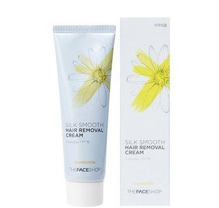 Kem tẩy lông The Face Shop Silk Smooth chiết xuất hoa cúc