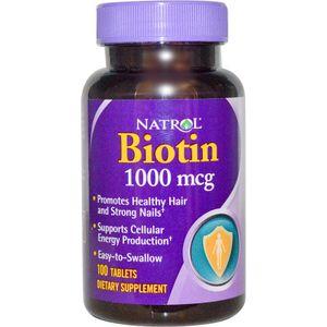 Natrol Biotin 1000 mcg - viên uống hỗ trợ mọc tóc, móng khỏe