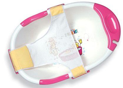 Chậu tắm cho bé Farlin có lưới đỡ và kẹp nhựa an toàn BF178A