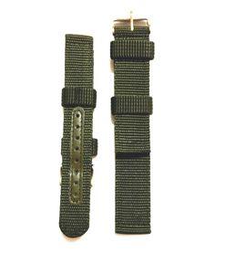 Dây đeo đồng hồ Nato xanh quân đội bọc lỗ