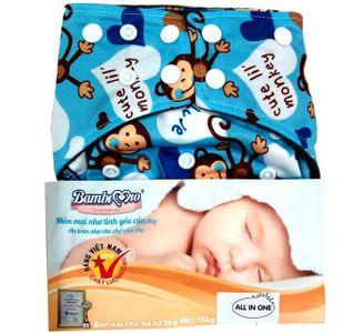 Tã vải Bambi Mio ngày đêm cho bé 3-16kg (2-4 tiếng)