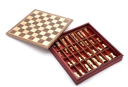 Bàn cờ vua hộp gỗ Super King thiết kế chuẩn quốc tế