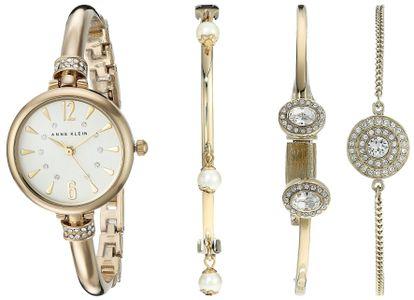 Đồng hồ Anne Klein AK/2336GBST kèm vòng tay cho nữ