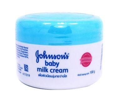 Kem dưỡng da Johnson's Baby Milk Cream nắp xanh 50g