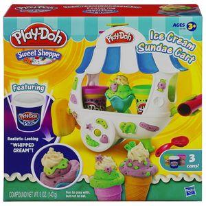 Bộ đồ chơi đất nặn Mỹ Play-Doh A2106 - Mô hình xe kem đáng yêu