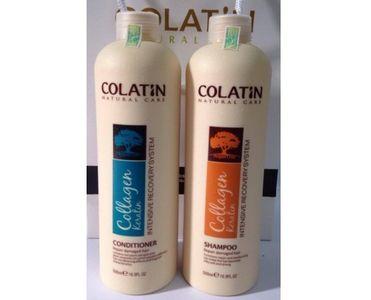 Cặp dầu gội xả Colatin 500ml dưỡng chất tơ tằm