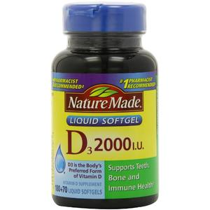 Viên uống Vitamin D3 2.000 I.U Liquid Softgels Nature Made