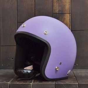 Mũ bảo hiểm Dammtrax 3/4 tím nhám