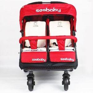 Xe đẩy cho bé sinh đôi Seebaby T22