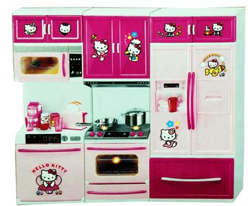 Bộ đồ chơi nhà bếp Hello Kitty hiện đại dùng pin 8922-4