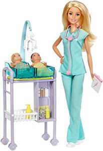 Bộ búp bê Barbie bác sĩ nhi DVG10