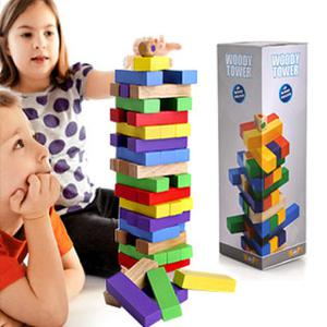 Đồ chơi rút gỗ 48 thanh nhiều màu sắc Woody Tower